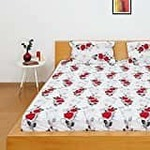 Solimo Silk Finish bedsheets 100% Cotton Double Bedsheet with 2 Pillow Covers
