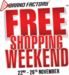 Brand Factory Free Shopping Weekend Sale