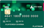 Get Axis Neo Credit Card for Free + Rs. 250 Amazon Voucher