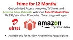 Bharti Airtel Offering Free Subscription to Amazon Prime Video With myPlan Infinity Postpaid Plans Above Rs 499