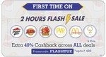 Flat 40% cashback upto 400 on little app (5-7 PM)