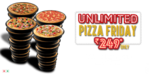 Unlimited Pan Pizza and Garlic Bread