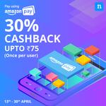 Flat 30% cashback upto Rs. 75 at Niki on payment via Amazon pay balance