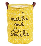 Story@Home Fabric Yellow Foldable Laundry Bag Basket with Carry Handle