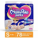 MamyPoko Pants Extra Absorb Diaper Monthly Jumbo Pack, Small, 126 Diapers