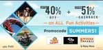 Little App : Upto 40% off + Extra 51% cashback upto 400rs. on All Fun activities