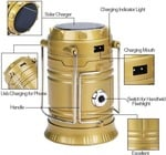 Royaldeals Emergency Rechargeable solar latern with torch for camping (Golden, Purple)