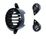 Loot: Combo of Brake and Pilot Light Grills for Royal Enfield (Set of 3, Black) @64