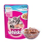 Pantry] Whiskas Wet Meal Kitten Cat Food, Tuna in Jelly, 85 g