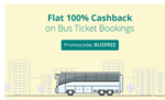 Gets 100% cashback up to ₹125 on bus ticket booking via paytm