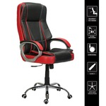 Green Soul Vienna High-Back Leatherette Office Chair (Black & Red)