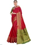 (Hurry only 3 Left) EthnicJunction Woven Banarasi Silk Saree (Red)