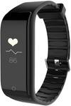 (Hurry only 1 Left) Riversong Wave Fit Fitness Tracker with Dynamic Heart Rate Monitor (Black Strap Regular)