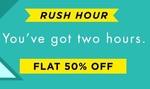 Myntra Rush Hour :-  50-80% off + Extra 15% off + 10% instant cashback using Airtel money