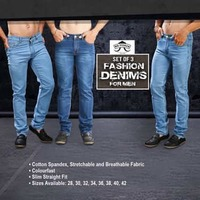 5f8278f8 Set of 3 Fashion Denims for Men by Mr. Tusker | DesiDime