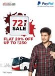 Abhibus 72Hrs Sale - Upto Rs.250 Off on Bus Booking using PayPal