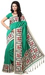 e-VASTRAM Women's Mysore Art Silk Printed Saree With Tassel/Kutch (NSTASSELG_Green)