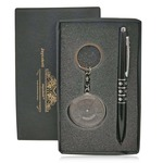 Jaycoknit Knight N Day's Simplet Series Black Pen,Calendar Key Chain Corporate Gift Set
