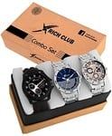 Rich club Combo Of Three Metallic And Leather Super Quality Watch - For Men