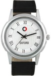 Oxford White Round Dial Black Synthetic Leather Strap Watch For Men/Boys_Ox1507Sl02