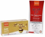 VLCC Shapeup Hips Thighs Arms Gel, 100g and Gold Facial Kit, 60g