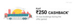 Rs.250 cashback on bus bookings.