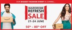 Amazon Fashion Wardrobe Refresh Sale - 21st to 24th June