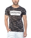 Tinted Men's Cotton Camouflage/Army Half Sleeve T-Shirt