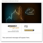 Eid offer 5% cashback up to Rs.150 as Amazon Pay balance on purchase of Amazon Email Gift Cards