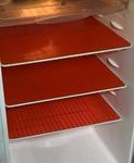 Kuber Industries PVC 6 Piece Refrigerator Drawer Mat Set - Red