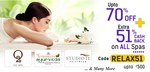 Upto 70% Off + Extra 51% Cashback upto ₹500 on ALL Spas & Salons