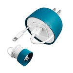 Quirky PPCM1-GR01 Powercurl Mini for Earbuds and Adapter, Grey