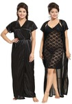 Noty 2 Pc Women's Hot Night Robe and Night Slip