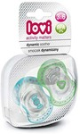 Lovi 22/807B Dynamic Spark Soother - 2 Pieces (Blue/Green)