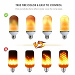 Lovelyhome LED Bulbs, Flickering Flame Light Bulbs Fire Upside Down Decorative Light, E27 LED Fire-Effect