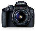 Only prime Canon Eos 3000D 18MP Digital SLR Camera (Black) with 18-55mm is II Lens, 16GB Card and Carry Case