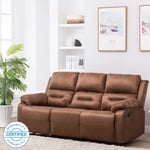 Perfect Homes by Flipkart Wayne 3 Seater Fabric Recliner  (Finish Color - Brown)