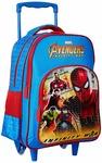 Avengers Infinity War Spiderman Blue Trolley School Bag