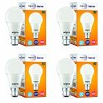 Wipro Garnet Base B22 10-Watt LED Bulb (Pack of 4, Cool Day Light)