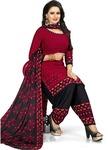 Saara Crepe Printed Salwar Suit Dupatta Material  (Un-stitched)