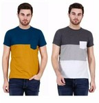 Stylogue Trendy T-shirts For Men (Pack of 2) include shipping (ONCEAMONTH).