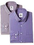 EX Men's Solid Regular Fit Formal Shirt (Pack of 2) @ 449