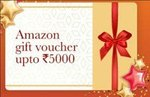 ICICI BANK Transfer funds overseas online and get up to Rs 5,000 Amazon gift voucher
