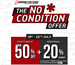 Brand factory sale : The No condition sale Everything flat  50% + Additional 20% cashback on purchase of Rs.3000