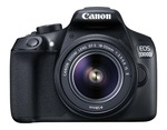 Canon Eos 1300D 18MP Digital SLR Camera (Black) with 18-55mm ISII Lens, 16GB Card and Carry Case @ 20990
