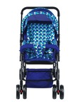 Mee Mee Comfortable Pram with 3 Seating Position, Checks, Blue