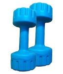 Aurion M1 Plastic Dumbell 1 KG x 2 (Blue)