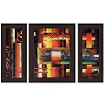 Wens 'Colourful Setting' Wall Art Pack of 3