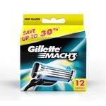 Gillette Mach3 Blades - 12 Cartridges