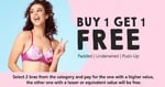 Buy 1 Get 1 Free on Bras  (Padded, Underwired, Push-Up)